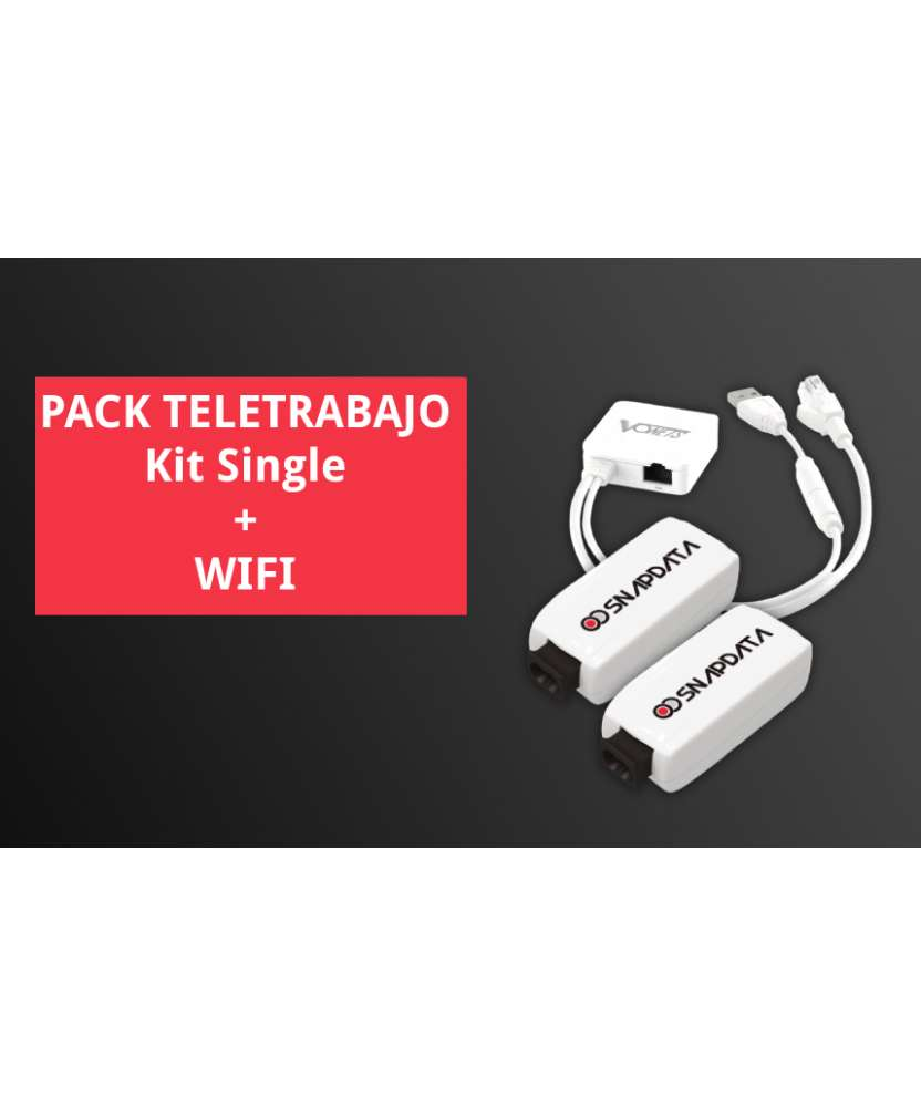Pack Teletrabajo - Kit Single + emisor Wifi